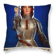 Joan Of Arc War Stamps Poster 1918 Throw Pillow