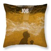 Job Books Of The Bible Series Old Testament Minimal Poster Art Number 18 Throw Pillow