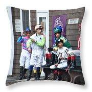 Jockeys Throw Pillow