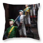 Jockeys Throw Pillow