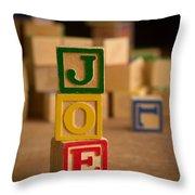 Joe - Alphabet Blocks Throw Pillow