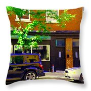 Joe Beef Liverpool House Notre Dame Little Burgundy Restaurant Montreal City Scene Carole Spandau Throw Pillow