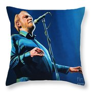 Joe Cocker Painting Throw Pillow