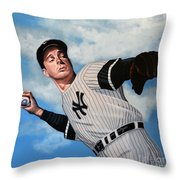 Joe Dimaggio Throw Pillow