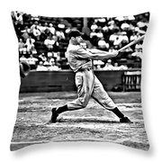 Joe Dimaggio Swing Throw Pillow