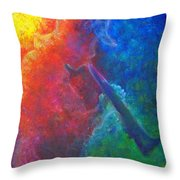 Joe Jazzes Into The Night Throw Pillow by The Art With A Heart By Charlotte Phillips