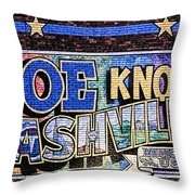 Joe Knows Nashville Throw Pillow