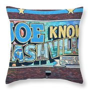 Joe Knows Nashville Throw Pillow