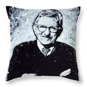 Joe Paterno Throw Pillow by Chris Mackie