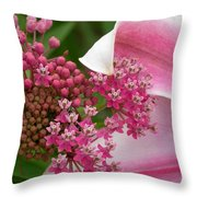 Asclepias And Friend Throw Pillow