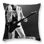 Joe Strummer At Clash Final Concert Throw Pillow