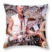 Joe Strummer Throw Pillow by David Plastik