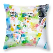 Joe Strummer - Watercolor Portrait Throw Pillow