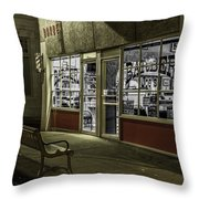 Joe's Barber Shop Throw Pillow