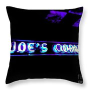 Joe's Corner Throw Pillow