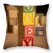 Joey - Alphabet Blocks Throw Pillow