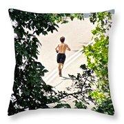 Jog Throw Pillow by Randi Shenkman