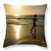 Jogging At Sunrise By Kaye Menner Throw Pillow