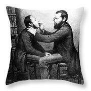 Johann Nepomuk Czermak (1828-1873) Throw Pillow