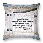 John 10 9 Throw Pillow