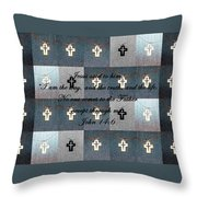 John 14 6 The Wooden Cross Throw Pillow