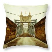 John A. Roebling Bridge Throw Pillow