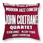 John Coltrane Quartet In Sweden Throw Pillow