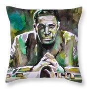 John Coltrane - Watercolor Portrait Throw Pillow