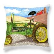 John Deere At Rest Throw Pillow
