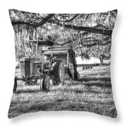 John Deere - Hay Bailing Throw Pillow