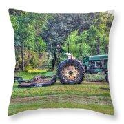John Deere - Work Day Throw Pillow