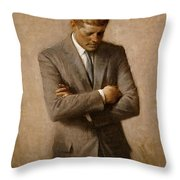 John F Kennedy 2 Throw Pillow