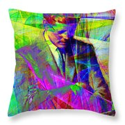 John Fitzgerald Kennedy Jfk In Abstract 20130610v2 Throw Pillow