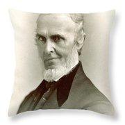 John Greenleaf Whittier (1807-1892) Throw Pillow