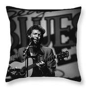 John Hammond Blues Throw Pillow