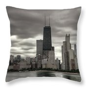 John Handcock Building From The Lake Shore Throw Pillow