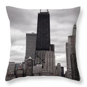 John Handcock Building Throw Pillow