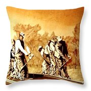 John Henry Throw Pillow