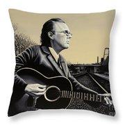 John Hiatt Painting Throw Pillow