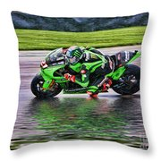 John Hopkins 2005 Motogp Red Bull Suzuki Throw Pillow