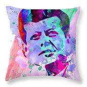 John Kennedy Watercolor Throw Pillow