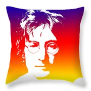 John Lennon The Legend Throw Pillow