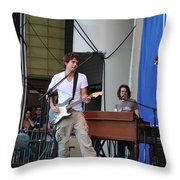 John Mayer And Robbie Mcintosh Taste Of Chicago Throw Pillow