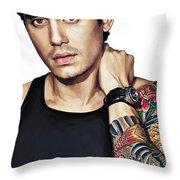 John Mayer Artwork  Throw Pillow