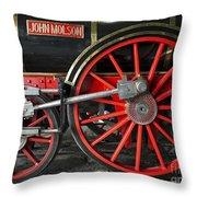 John Molson Steam Train Locomotive Throw Pillow