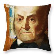 John Quincy Adams Throw Pillow by Corporate Art Task Force
