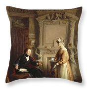 John Sheepshanks And His Maid Throw Pillow