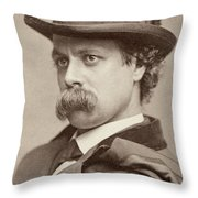 John Sidney Woollett (1845-1917) Throw Pillow