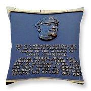 John Steinbeck Throw Pillow