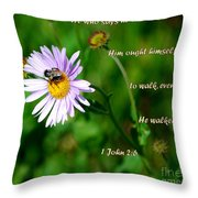 John Verse Throw Pillow